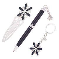 Ручки в наборе Langres Star 1шт + брелок и закладка для книг, черный LS.132000-01