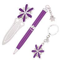 Ручки в наборе Langres Star 1шт + брелок и закладка для книг, фиолетовый LS.132000-07