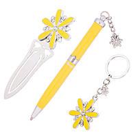 Ручки в наборе Langres Star 1шт + брелок и закладка для книг, желтый LS.132000-08