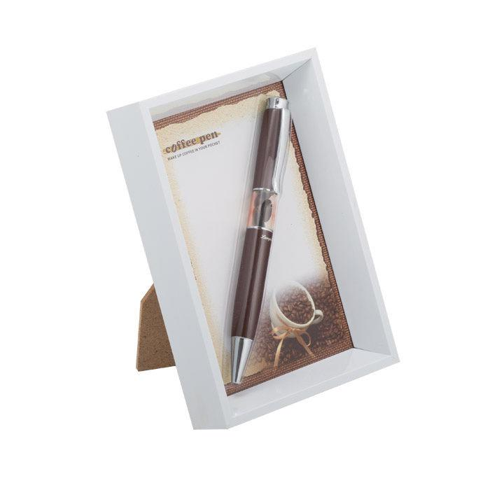 Ручки в наборе Langres Coffee 1шт + белая фоторамка, коричневая LS.402003-25