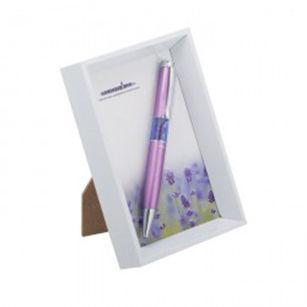 Ручки в наборе Langres Lavender 1шт + белая фоторамка, сиреневая LS.402003-28