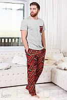 Домашний мужской костюм-пижама из байки S M L XL XXL