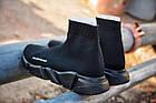 """Женские кроссовки Balenciaga Speed Trainer """"Black"""" (в стиле Баленсиага с носком) черные, фото 3"""