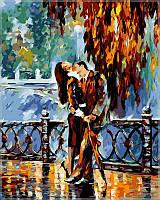 Картина раскраска по номерам на холсте 40*50см Babylon VP081 Поцелуй после дождя