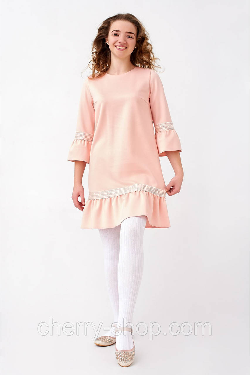 c5f6336eca09 Нежное платье для девочки из трикотажа - Интернет-магазин