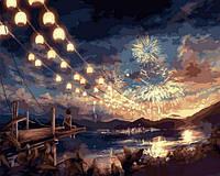 Картина раскраска по номерам на холсте 40*50см Babylon VP376 Волшебный феерверк