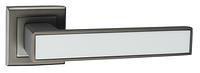 Дверные ручки LINDE A-2015 MA+White - матовый антрацит/белая вставка