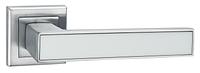 Дверные ручки LINDE A-2015 MC/WHITE - матовый хром/белая вставка