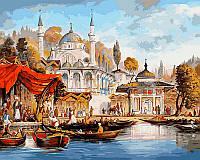 Картина раскраска по номерам на холсте 40*50см Babylon VP486 Стамбул Мечеть Ускюдар