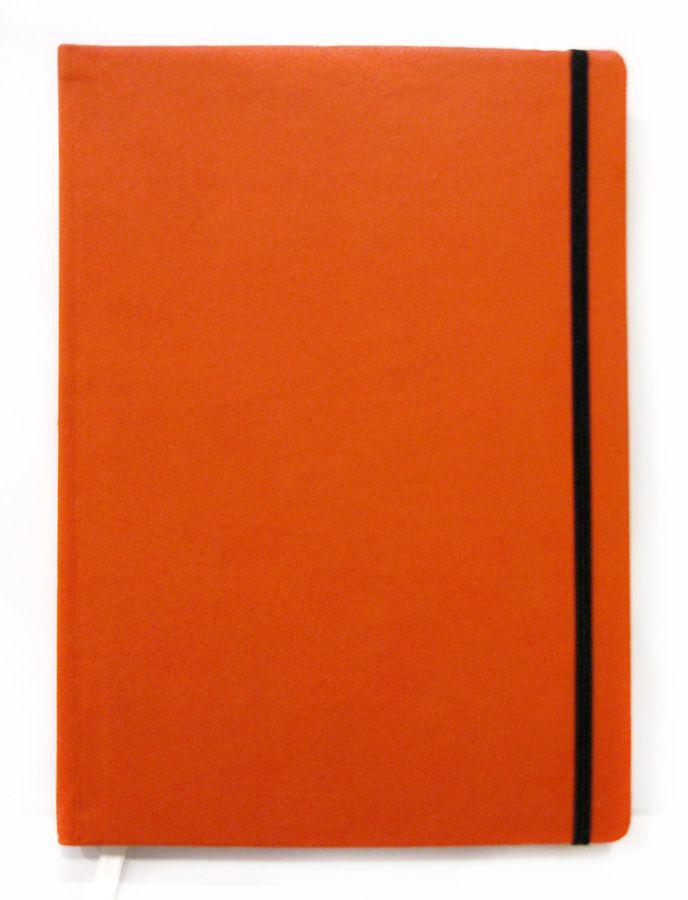 Блокнот записная книжка А5 IKRA 160 л. на резинке, бел. блок Оранжевый