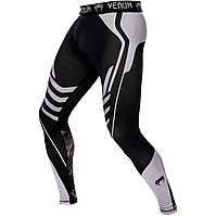 Штаны компрессионные для единоборств Venum Technical черный-серый