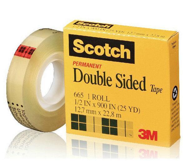 Скотч двухсторонний 12 мм/22,8м 3М Scotch 665