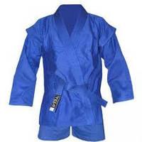 Кимоно САМБО синее VELO 500 мг на м2  (рост 130-190)