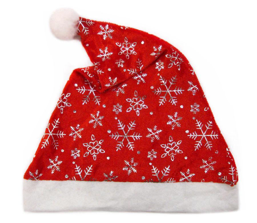 Новогодняя шапочка-колпак №6037-1 35см текстиль