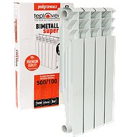 500/100 Биметаллический радиатор 4 секции TEPLOVER SUPER