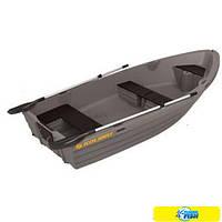 Пластиковая прогулочная гребная лодка Kolibri RKM-350 (серая)