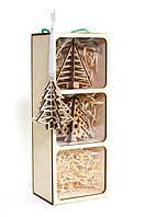 Заготовка для декорирования Zabava (ДВП) набор Новогодний, Елочки 12,3*9,4*33,2см TrioBox-01