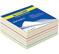 Бумага кубарик для записей, цветная 300л. 80*80 мм не проклеенная Buromax 2233