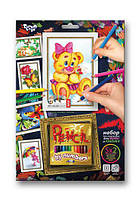 Раскраска по номерам карандашами DankoToys PBN-01-05 5 рисунков + 12 карандашей