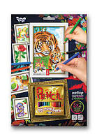 Раскраска по номерам карандашами DankoToys PBN-01-07 5 рисунков + 12 карандашей
