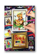 Раскраска по номерам карандашами DankoToys PBN-01-08 5 рисунков + 12 карандашей
