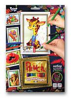 Раскраска по номерам карандашами DankoToys PBN-01-09 5 рисунков + 12 карандашей