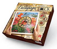 Набор для творчества DankoToys DT DKC-01-04 Часы-декупаж с рамкой Decoupage clock Маки