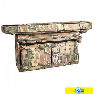 Мягкое сиденье 710x200x50 мм + сумка рундук Storm (3009) цвета в ассортименте