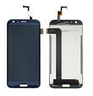 Оригинальный дисплей (модуль) + тачскрин (сенсор) для Doogee BL5000 (синий цвет)