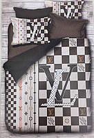Двуспальное постельное белье хлопок (бренд) Louis Vuitton