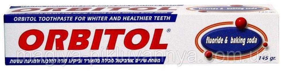 Зубная паста ORBITOL с содой отбеливающая 145г, арт.289571