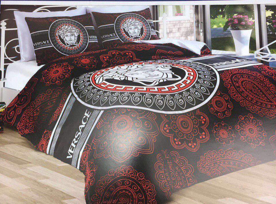 Двуспальное постельное белье хлопок (бренд) Versace