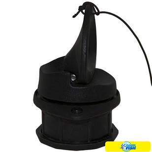 Клапан сливной транцевый 24 мм (пробка) Kolibri черный (11.0021.62)