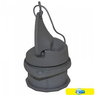 Клапан сливной транцевый 24 мм (пробка) Kolibri серый (11.0021.63)