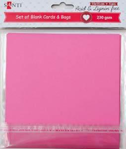 Набор заготовок для открыток 15*15 Santi 230г/м 5шт розовые 952282