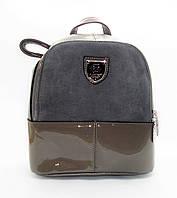 Женский рюкзак из искусственной кожи серого цвета DDE-000797, фото 1