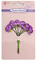 Набор заготовок для декорирования Santi 12шт Цветы сиреневые 952558