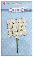 Набор заготовок для декорирования Santi 16шт Цветы белые 952563