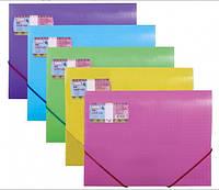 Папка А4 Optima на резинках пластиковая X-Ray, цвет в ассортименте 30697