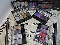Тени-глиттеры Meis 4-х цветные