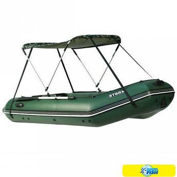 Тент солнцезащитный Storm для лодок длиной от 2.20 м до 2.80 м (5000) цвета ( зеленый, синий)