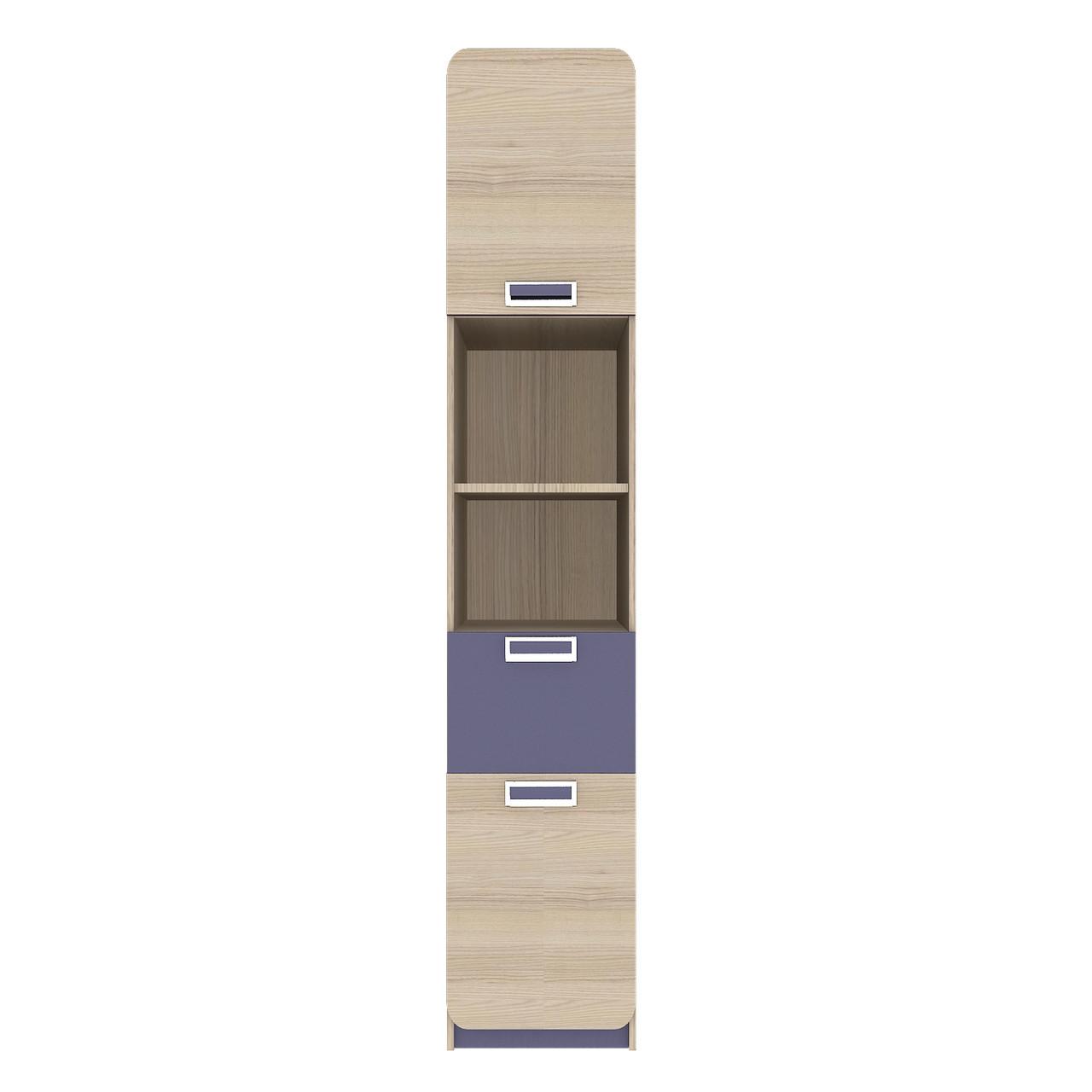 Пенал JASMINE С Blonski 2-х дверний коімбра+фіолет синій