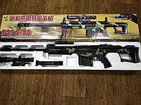 Детская снайперская винтовка Barrett Баррет на пульках, прицел, лазер, сошки, игрушечное оружие, автоматы