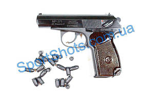 Сигнально шумовой Пистолет Макарова МР 371 бакелит с бородой