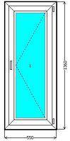 Металлопластиковое одностворчатое окно EuroLine купить недорого.