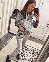 Женский яркий бархатный костюм (4 цвета), фото 1