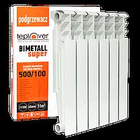 500/100 Биметаллический радиатор 6 секций TEPLOVER SUPER