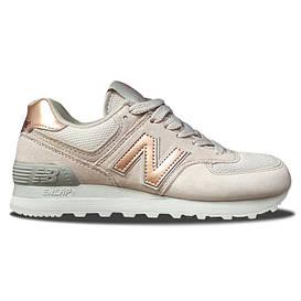 Женские кроссовки New Balance 574 Beige Gold
