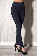 Модные брюки-лосины  с легким начесом очень высокого качества, замшевые лампасы, р.44,48,50, 2 цвета код 4745М