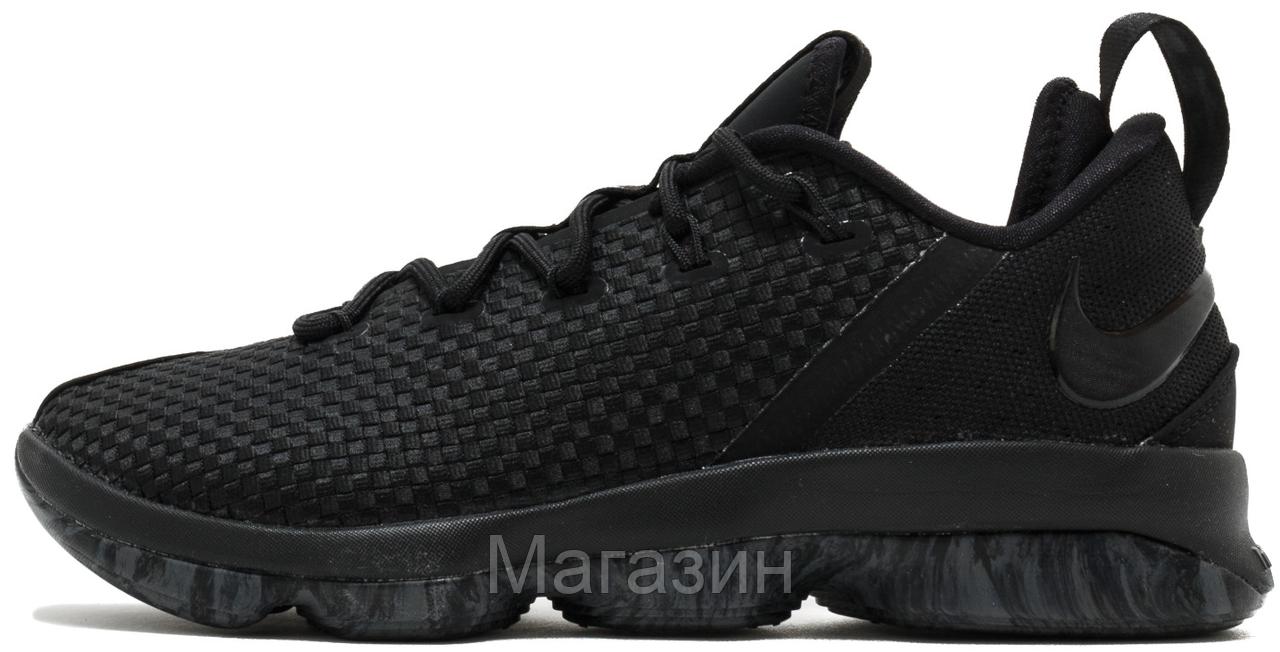 Мужские Кроссовки Nike LeBron 14 Low Black Баскетбольные Найк Леброн Черные  — в Категории